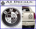 Hello Kitty BMW Decal Sticker Carbon FIber Black Vinyl 120x97