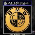 Hello Kitty BMW Decal Sticker Gold Vinyl 120x120