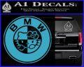 Hello Kitty BMW Decal Sticker Light Blue Vinyl 120x97