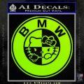 Hello Kitty BMW Decal Sticker Lime Green Vinyl 120x120