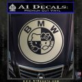 Hello Kitty BMW Decal Sticker Metallic Silver Emblem 120x120