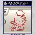 Hello Kitty Cupcake Decal Sticker D1 Red 120x120