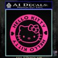 Hello Kitty Decal Sticker Intricate Pink Hot Vinyl 120x120