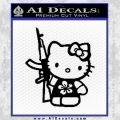 Hello Kitty Hibiscus Gun Decal Sticker Black Vinyl 120x120