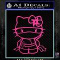 Hello Kitty Ninja Decal Sticker Pink Hot Vinyl 120x120