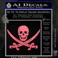 Jolly Roger Pirate Skull Decal Sticker Pink Emblem 120x120