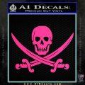Jolly Roger Pirate Skull Decal Sticker Pink Hot Vinyl 120x120