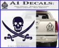 Jolly Roger Pirate Skull Decal Sticker PurpleEmblem Logo 120x97