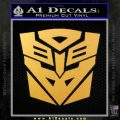 Transformers Ancient Hybrid Decal Sticker Gold Vinyl 120x120