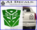 Transformers Ancient Hybrid Decal Sticker Green Vinyl Logo 120x97