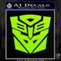 Transformers Ancient Hybrid Decal Sticker Lime Green Vinyl 120x120