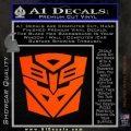 Transformers Ancient Hybrid Decal Sticker Orange Emblem 120x120