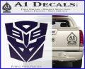 Transformers Ancient Hybrid Decal Sticker PurpleEmblem Logo 120x97