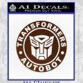 Transformers Autobot Decal Sticker Full Emblem BROWN Vinyl 120x120