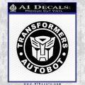 Transformers Autobot Decal Sticker Full Emblem Black Vinyl 120x120