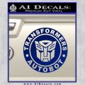 Transformers Autobot Decal Sticker Full Emblem Blue Vinyl 120x120