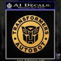 Transformers Autobot Decal Sticker Full Emblem Gold Vinyl 120x120