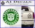 Transformers Autobot Decal Sticker Full Emblem Green Vinyl Logo 120x97