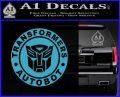 Transformers Autobot Decal Sticker Full Emblem Light Blue Vinyl 120x97