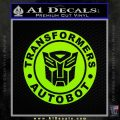 Transformers Autobot Decal Sticker Full Emblem Lime Green Vinyl 120x120