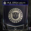 Transformers Autobot Decal Sticker Full Emblem Metallic Silver Emblem 120x120