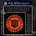 Transformers Autobot Decal Sticker Full Emblem Orange Emblem 120x120