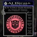 Transformers Autobot Decal Sticker Full Emblem Pink Emblem 120x120
