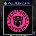 Transformers Autobot Decal Sticker Full Emblem Pink Hot Vinyl 120x120