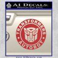 Transformers Autobot Decal Sticker Full Emblem Red 120x120