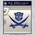 Transformers Autobot Pirate Decal Sticker Blue Vinyl 120x120