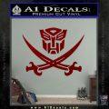 Transformers Autobot Pirate Decal Sticker DRD Vinyl 120x120