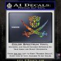 Transformers Autobot Pirate Decal Sticker Glitter Sparkle 120x120