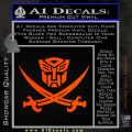 Transformers Autobot Pirate Decal Sticker Orange Emblem 120x120