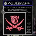 Transformers Autobot Pirate Decal Sticker Pink Emblem 120x120