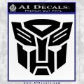 Transformers Autobots Decal Sticker tf Black Vinyl 120x120