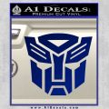 Transformers Autobots Decal Sticker tf Blue Vinyl 120x120