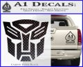 Transformers Autobots Decal Sticker tf Carbon FIber Black Vinyl 120x97