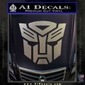 Transformers Autobots Decal Sticker tf Carbon FIber Chrome Vinyl 120x120