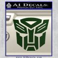 Transformers Autobots Decal Sticker tf Dark Green Vinyl 120x120