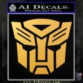 Transformers Autobots Decal Sticker tf Gold Vinyl 120x120
