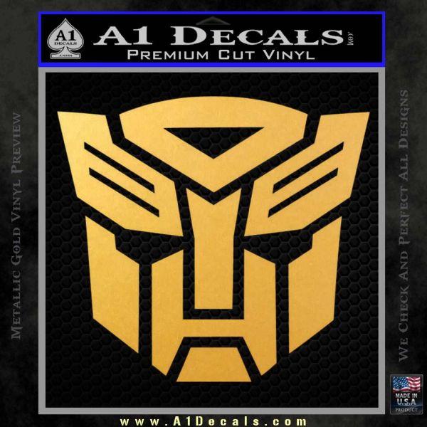 Transformers Autobots Decal Sticker tf Gold Vinyl