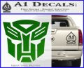 Transformers Autobots Decal Sticker tf Green Vinyl Logo 120x97