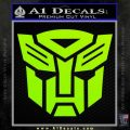 Transformers Autobots Decal Sticker tf Lime Green Vinyl 120x120