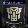 Transformers Autobots Decal Sticker tf Metallic Silver Emblem 120x120