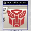 Transformers Autobots Decal Sticker tf Red 120x120