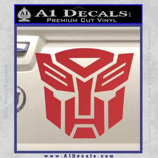 Transformers Autobots Decal Sticker tf Red