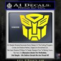 Transformers Autobots Decal Sticker tf Yellow Laptop 120x120