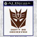 Transformers Christian Decal Sticker Decepticon BROWN Vinyl 120x120
