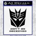 Transformers Christian Decal Sticker Decepticon Black Vinyl 120x120
