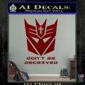 Transformers Christian Decal Sticker Decepticon DRD Vinyl 120x120